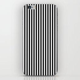 Black & White Vertical Stripes iPhone Skin