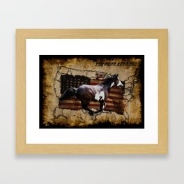 The Pony Express Framed Art Print