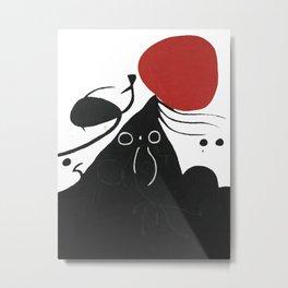 Joan Miro, FEMME DEVANT LE SOLEIL I, Woman Before The Sun I Artwork, Prints, Tshirts, Posters, Men, Metal Print