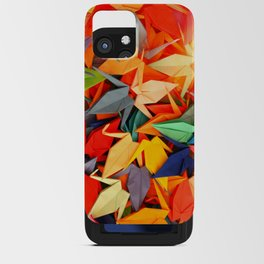 Senbazuru rainbow iPhone Card Case