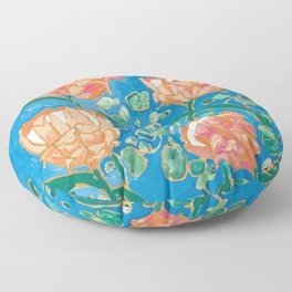 Four Orange Proteas Floor Pillow