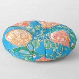 Four Orange Proteas Floor Pillow