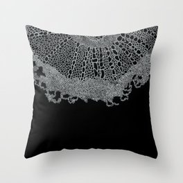 Single Digital Intricate 'Plant Cell' Pattern  Throw Pillow