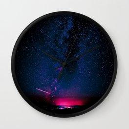Electric Desert Starry Night Wall Clock