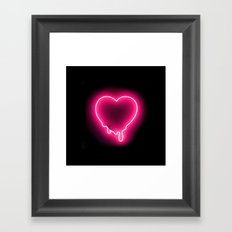 Heart (Neon) Framed Art Print