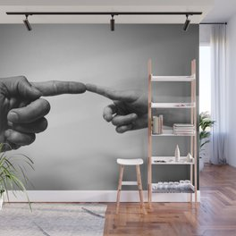 Father and Child Photographic Motif Wall Mural