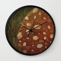 mushroom Wall Clocks featuring mushroom by rysunki-malunki