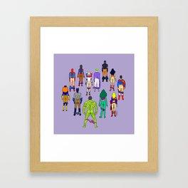 Superhero Butts - Power Couple on Violet Framed Art Print