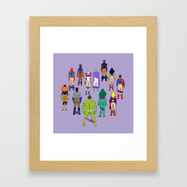 Superhero Butts - Power Couple on Violet Framed Art Print