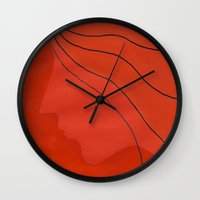 ginger Wall Clocks featuring Ginger by mojekris