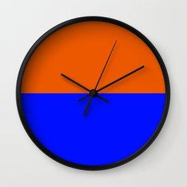Persimmon Orange True Blue Wall Clock