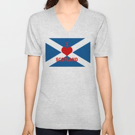 Scotland Flag Saltire Unisex V-Neck