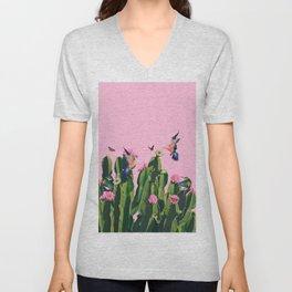 the Succulent Cactus Unisex V-Neck