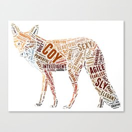 My Spirit Animal is a Fox Canvas Print