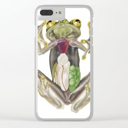 Glass Frog Anatomical Illustration Clear iPhone Case
