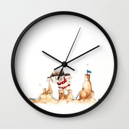 Sandcastleday Wall Clock