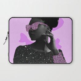 Rock Star Glitter Collage Laptop Sleeve