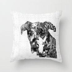 Black And White Great Dane Art Dog By Sharon Cummings Throw Pillow