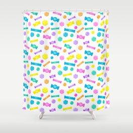Pastel Rainbow Candy Shop Pattern Shower Curtain