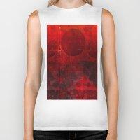 moulin rouge Biker Tanks featuring Soleil rouge by Ganech joe