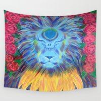 grateful dead Wall Tapestries featuring Grateful by SRC Creations
