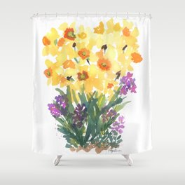 Spring Daffodil Patch Shower Curtain