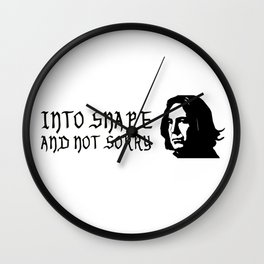 Into Snape & Not Sorry Wall Clock