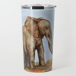 The Majestic African Elephant Travel Mug