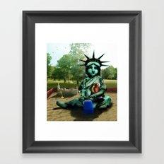 Little Liberty Framed Art Print