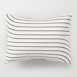 Minimal Line Curvature - Black and White I Pillow Sham