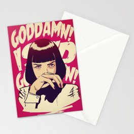 Pulp Fiction Mia Wallace Stationery Cards