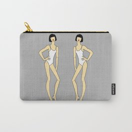 Creepy Fashion Model Twins Carry-All Pouch