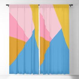 Cute Colorful Diagonal Color Blocking Blackout Curtain