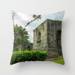 Santiago Apóstol Parish Ruins Throw Pillow