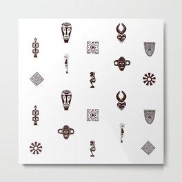 African Spirit | Pattern Art Metal Print