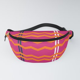 Pink and Orange Chevron Fanny Pack