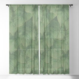 Banana Leaf III Sheer Curtain