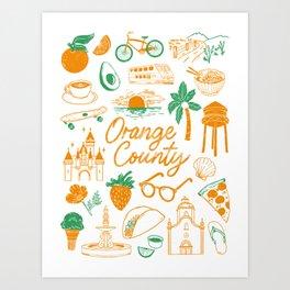 Orange County Art Print