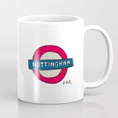 tube sign Mug