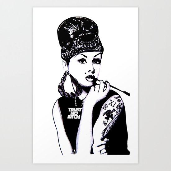 Audrey Hepburn. Rebel: Chola. Art Print
