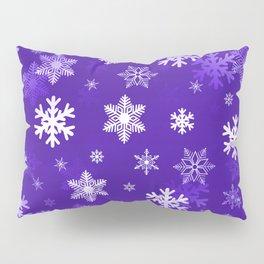 Light Purple Snowflakes Pillow Sham