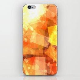 Orange rectangle coctail iPhone Skin