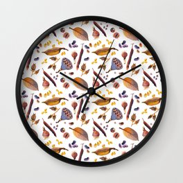 Winter Treasures Wall Clock