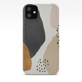 Woman silhouette art, Mid century modern art iPhone Case