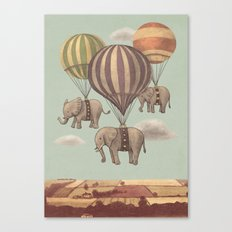 Flight of the Elephants - mint option Canvas Print