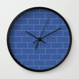 Brickston - Zuckerberg Blue Wall Clock