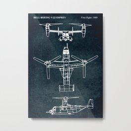 BELL BOEING V-22 OSPREY -1989 Metal Print