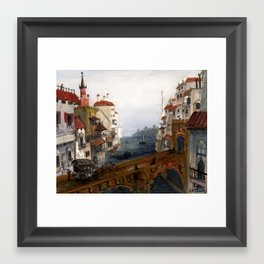 el Puente Moro Framed Art Print