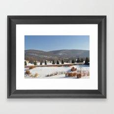 Winter Snow Scene Landscape Photo Framed Art Print