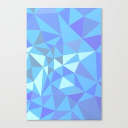 Blue compsition with tiangles Canvas Print